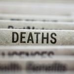 File folder of death cases