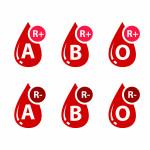 Blood types with rhesus. Rhesus (Rh) factor