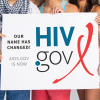 The new logo for the newly named HIV.gov