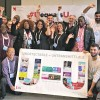 Supporters of U=U at the IAS conference in Paris