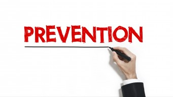 prevention being written on white board