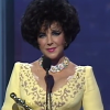 Elizabeth Taylor receives the Jean Hersholt Humanitarian Award at the 1993 Academy Awards