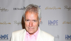 "Alex Trebek at the ""Debbie Reynolds: The Auction Finale"" VIP Reception at Debbie Reynolds Dance Studio on May 14, 2014 in North Hollywood, CA"