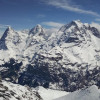 From left: Eiger, Mönch, and Jungfrau