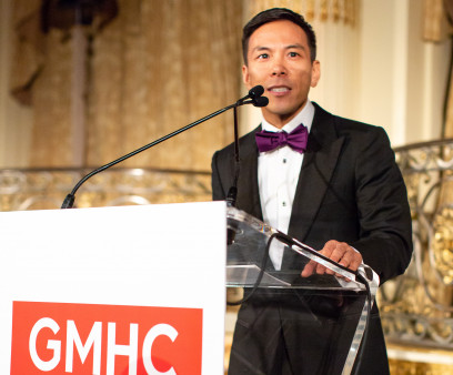 GMHC CEO Kelsey Louie at the AIDS service organization's 2018 gala.