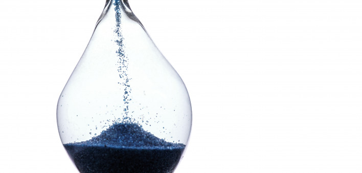 sand in hourglass