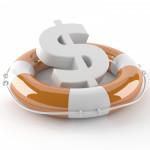a US dollar symbol in a life preserver